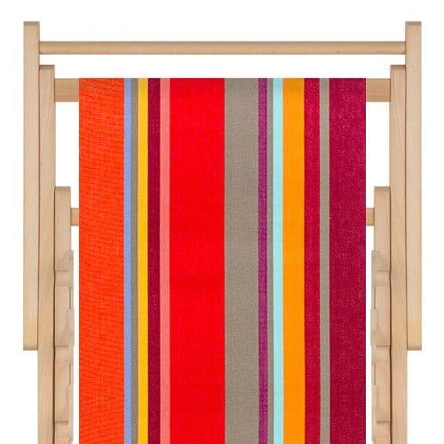 strandstoel katoen collioure rouge toiles du soleil