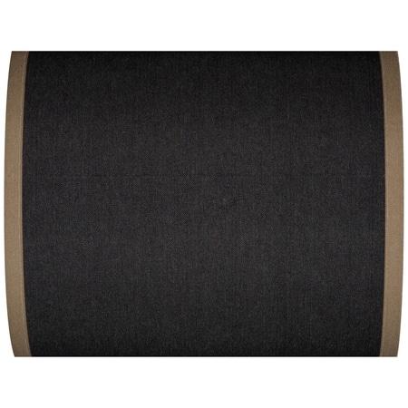 strandstoelstof uni noir bord taupe