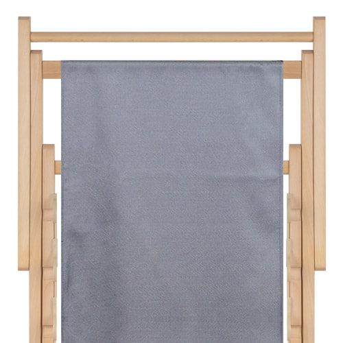 strandstoel polyester silver grey