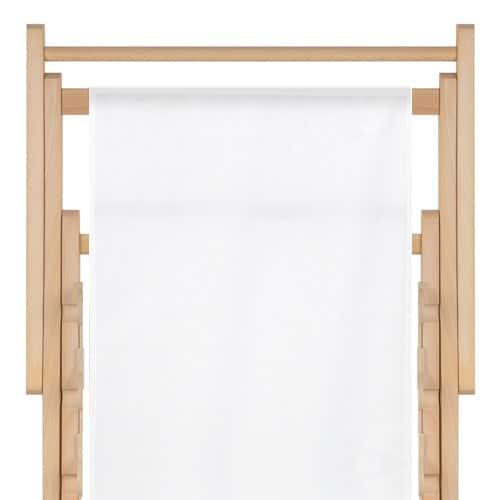 transat  uni blanc - toile en polyester