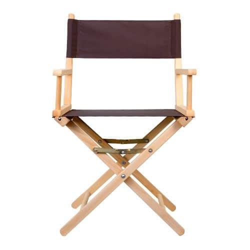 chaise régisseur coton brun