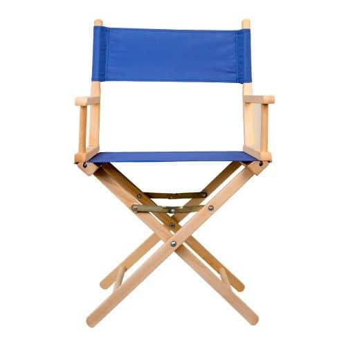 chaise regisseur coton bleu marine