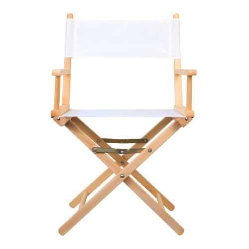 chaise regisseur coton blanc