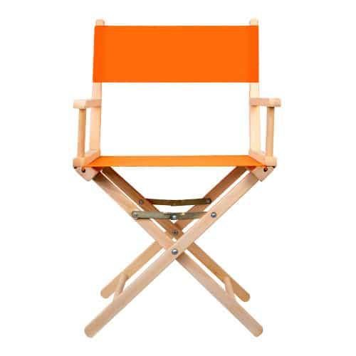 regisseurstoel hout oranje