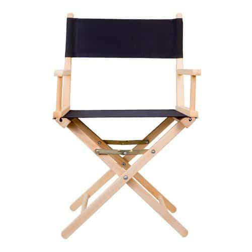 chaise regisseur coton noir