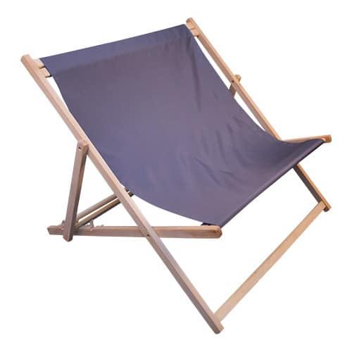 dubbele strandstoel grijs profiel