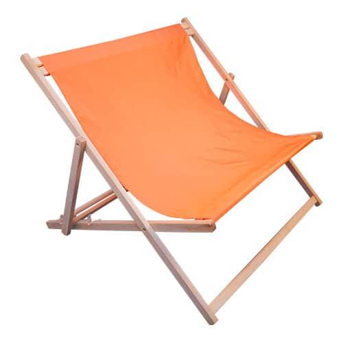 strandstoel dubbel oranje