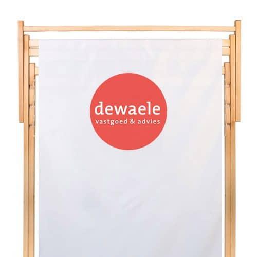 dubbele strandstoel met logo