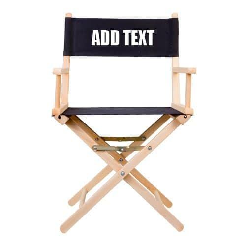 regisseurstoel met opdruk