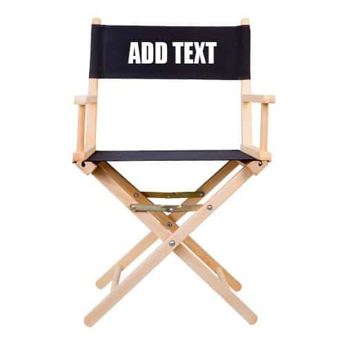 chaise régisseur avec impression