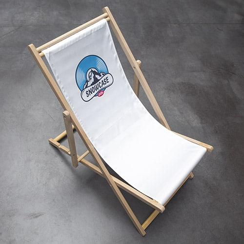 strandstoel met beeld opdruk