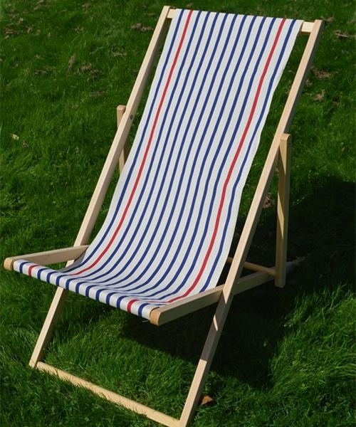 strandstoel katoen toiles du soleil marine ecru