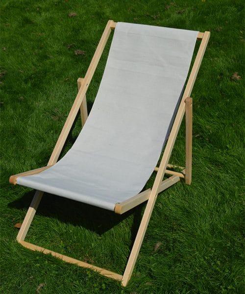 strandstoel stof katoen oxford ecru toiles du soleil