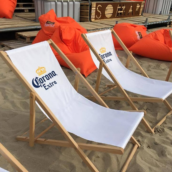 strandstoel bedrukt Corona