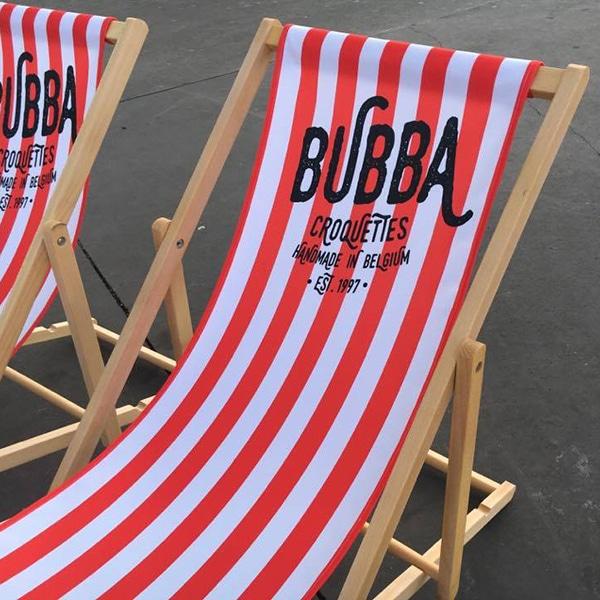strandstoel bedrukt digitaal Bubba