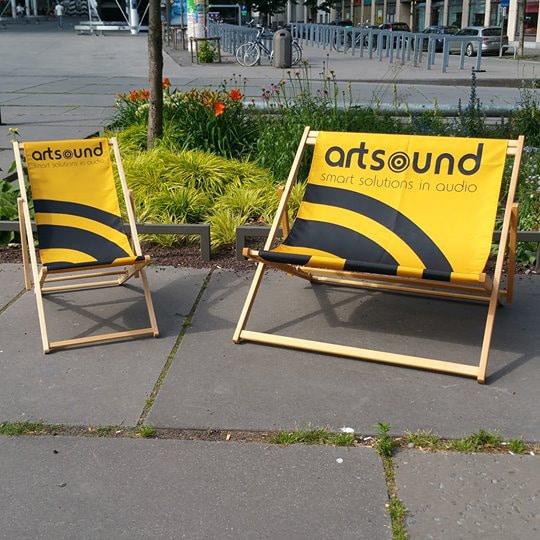 duo strandstoelen bedrukt digitaal