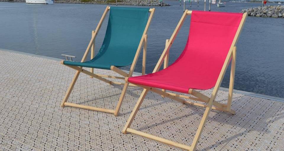strandstoel hoes in polyester kleur