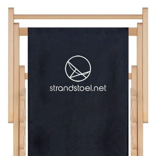 strandstoel met logo bedrukking